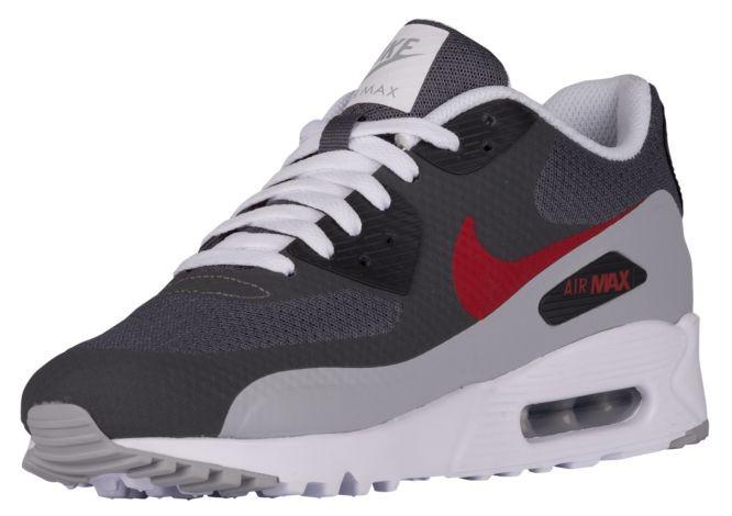 finest selection 4d3b2 05006 ... Nike Air Max 90 Ultra Essential Herren Turnschuhe Dunkel Grau Gym Rot Wolf  Grau ...