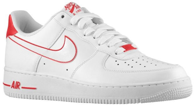 new appearance hot products really cheap Nike Air Force 1 Low Weiss Rot Herren Athletic Shoes - Wires