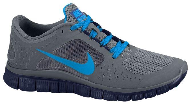 Nike Free Run + 3 Damen Sportschuhe Cool GrauBlau Glühen