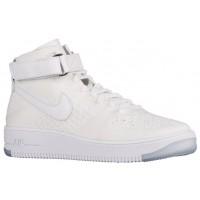 Nike Air Force 1 Ultra Flyknit Mid Herren Sneakers Weiß