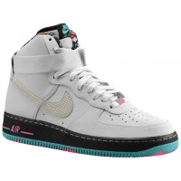 Nike Air Force 1 High Rein Platin/Schwarz/Licht Retro Herren Sportschuhe