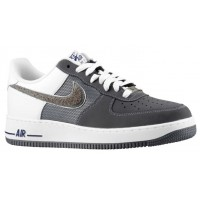 Herren Nike Air Force 1 Low Nubuck Schläue/Dunkel Grau Sneakers