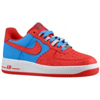 Herren Nike Air Force 1 Low Leather Foto Blau/Hyper Rot Sneakers