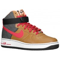 Herren Nike Air Force 1 High Leather Ale Braun/Noble Rot/Schwarz Sportschuhe