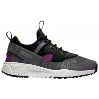 Nike Air Huarache Utility Premium Mittel Berry/Schwarz/Kaktus/Dunkel Grau Herren Sneakers