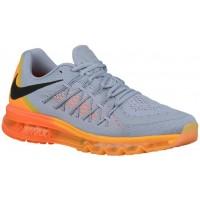 Nike Air Max 2015 Herren Sneakers Wolf Grau/Gesamt Orange/Laser Orange/Schwarz
