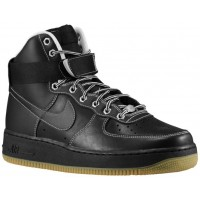Nike Air Force 1 High Schwarz/Weiß/Metallic Silber Herren Sneakers