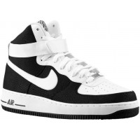 Nike Air Force 1 High 07 Leather Herren Athletic Shoes Schwarz/Weiß