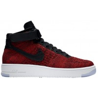 Nike Air Force 1 Ultra Flyknit Mid Herren Trainers University Rot/Team Rot/Schwarz/Weiß