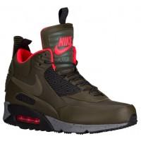 Nike Air Max 90 Sneakerboot Dunkel Loden/Hell Crimson/Dunkel Grau/Schwarz Herren Sneakerboot