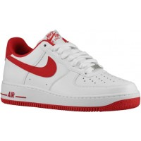 Nike Air Force 1 Low Weiß/Rot Herren Basketballschuhe