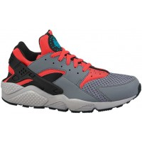 Nike Air Huarache Cool Grau/Hell Crimson/Schwarz/Blau Legion Herrenschuh