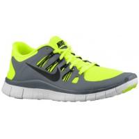 Nike Free 5.0+ Volt/Cool Grau/Summit Weiß/Schwarz Herren Laufschuhe
