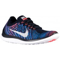 Herren Nike Free 4.0 Flyknit 2015 Dunkel Obsidian/Hot Lava/Game Royal/Summit Weiß Runningschuh