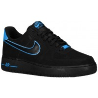 Nike Air Force 1 Low Herren Basketball Schwarz/Foto Blau