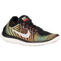 Herren Nike Free 4.0 Flyknit 2015 Schwarz/Hyper Orange/University Blau/Sail Sports