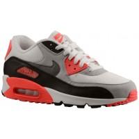 Nike Air Max 90 Herren Sneakers Weiß/Cool Grau/Neutral Grau/Schwarz/Rot