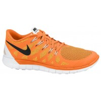 Nike Free 5.0 Herrenschuh Gesamt Orange/Atomar Mango/Metallic Silber/Schwarz