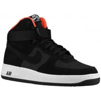 Nike Air Force 1 High Herren Sneakers Schwarz/Hell Crimson/Weiß