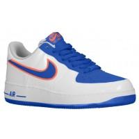 Nike Air Force 1 Low Herren Sportschuheschuhe Weiß/Game Royal/Rasen Orange