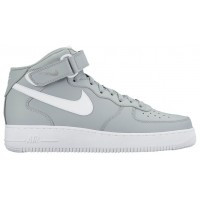 Nike Air Force 1 Mid Grau/Weiß Herren Basketball