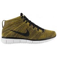 Nike Free Flyknit Chukka Herren Trainingsschuhe Tarp Grün/Seaweed/Gold Lead/Schwarz