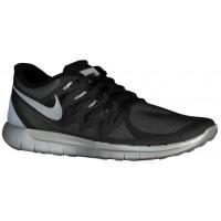 Nike Free 5.0 Flash Schwarz/Wolf Grau/Reflektierend Silber Herren Runningschuh
