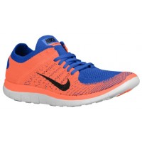 Nike Free 4.0 Flyknit Herren Trainingsschuhe Game Royal/Hyper Crimson/Schwarz