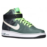 Herren Nike Air Force 1 High Leather Grün/Mörtel/Schwarz Sneakers