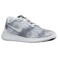 Nike Free Rn Print Herren Laufschuhe Cool Grau/Weiß/Schwarz/Licht Silber