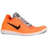 Nike Free Rn Flyknit Laser Orange/Schwarz/Cool Grau/Gesamt Orange Herren Runningschuh