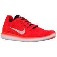 Nike Free Rn Flyknit Hell Crimson/Schwarz/University Rot/Weiß Herren Schuhschaft