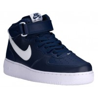 Nike Air Force 1 Mid Herren Basketball Midnacht Marine/Weiß