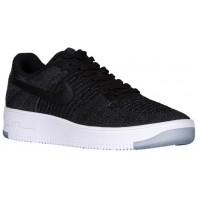 Nike Air Force 1 Ultra Flyknit Low Herren Sneakers Schwarz/Dunkel Grau/Weiß