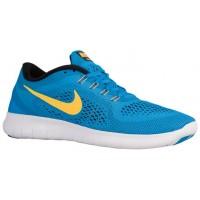Nike Free Rn Herrenschuh Heritage Cyan/Schwarz/Blau Funke/Laser Orange