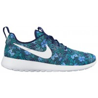 Nike Roshe One Print Herren Sneakers Loyal Blau/Weiß