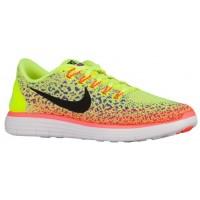 Herren Nike Free Rn Distance Volt/Schwarz/Persisch Violett/Hyper Orange Sports