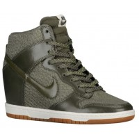 Nike Dunk Sky Hi Essential/Wedge Cargo Khaki/Sail/Gum Med Brn Damen Trainingsschuhe