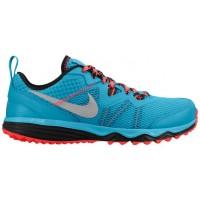 Nike Dual Fusion Trail 2 N7 Dunkel Türkis/Hyper Punch/Schwarz/Metallic Silber Damen-Laufschuh