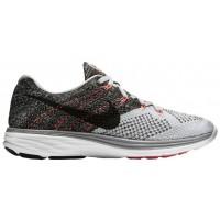 Nike Flyknit Lunar 3 Wolf Grau/Schwarz/Weiß Damen Laufschuh
