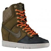 Nike Dunk Sky Hi Wedge Sneakerboot Dunkel Loden/Anthrazit/Himbeere Rot Damen Sneakerboot