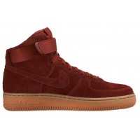 Nike Air Force 1 High Suede Team Rot Damen Sneakers