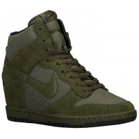 Nike Dunk Sky Hi Essential/Wedge Damen Sneakers Rough Grün/Schwarz