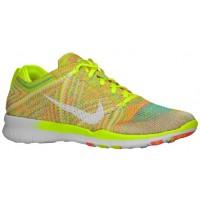Nike Free Tr 5 Flyknit Volt/Hot Lava/Weiß Damen Sports