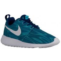 Nike Roshe One Print Premium Weiß/Dunkel Royal Blau Damenschuhe