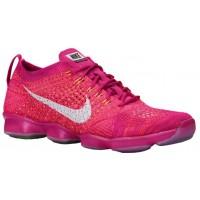 Nike Flyknit Zoom Agility Feuerberry/Hyper Punch/Himbeere/Weiß Damen Sneakers