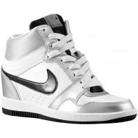 Nike Force Sky High Wedge Metallic Silber/Weiß/Schwarz Damen Basketball