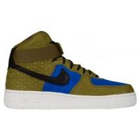 Damen Nike Air Force 1 High Premium Suede Olive/Schwarz/Türkis/Weiß Sportschuhe