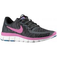 Nike Free 5.0 V4 Schwarz/Anthrazit/Weiß/Rot Violett Damen Authentische