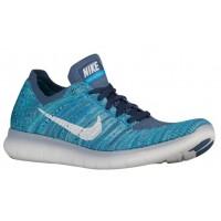 Nike Free Rn Flyknit Ozean Fog/Blau Glühen/Hyper Jade/Weiß Damen Turnschuhe